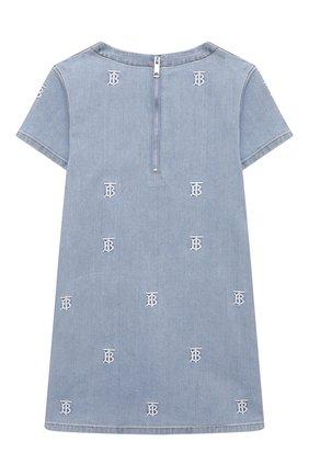 Детское джинсовое платье BURBERRY голубого цвета, арт. 8037986   Фото 2