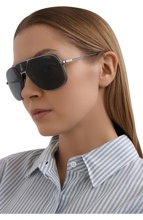 Женские солнцезащитные очки CARRERA серого цвета, арт. CARRERA LENS3 KJ1 | Фото 2