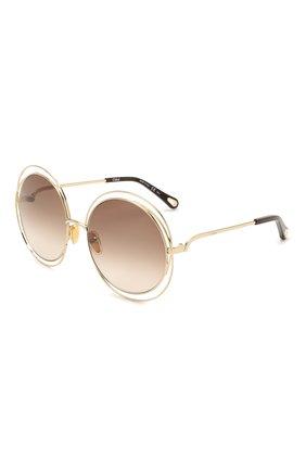 Женские солнцезащитные очки CHLOÉ коричневого цвета, арт. CH0045S 004   Фото 1