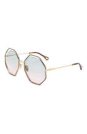 Женские солнцезащитные очки CHLOÉ коричневого цвета, арт. CH0046S 002   Фото 1