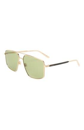 Женские солнцезащитные очки GUCCI зеленого цвета, арт. GG0941S 002   Фото 1