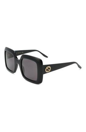 Женские солнцезащитные очки GUCCI черного цвета, арт. GG0896S 001   Фото 1