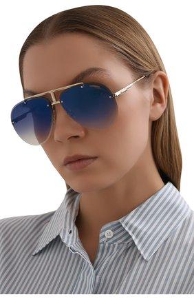 Женские солнцезащитные очки CARRERA синего цвета, арт. CARRERA 1032 2M2 | Фото 2