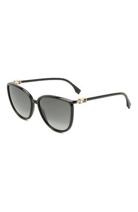 Женские солнцезащитные очки FENDI черного цвета, арт. 0459 807   Фото 1