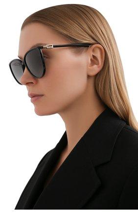 Женские солнцезащитные очки FENDI черного цвета, арт. 0459 807   Фото 2
