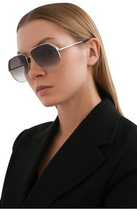 Женские солнцезащитные очки GIVENCHY серебряного цвета, арт. 7185/G 010 | Фото 2