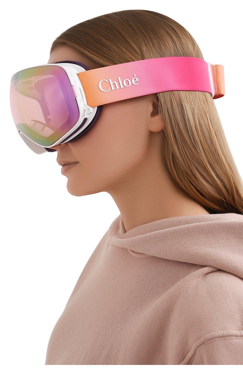 Женские горнолыжная маска CHLOÉ розового цвета, арт. DR X2S CASSIDY-PINK I0N+SILVER I0N   Фото 2
