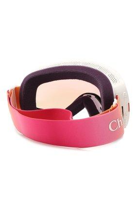 Женские горнолыжная маска CHLOÉ розового цвета, арт. DR X2S CASSIDY-PINK I0N+SILVER I0N   Фото 4