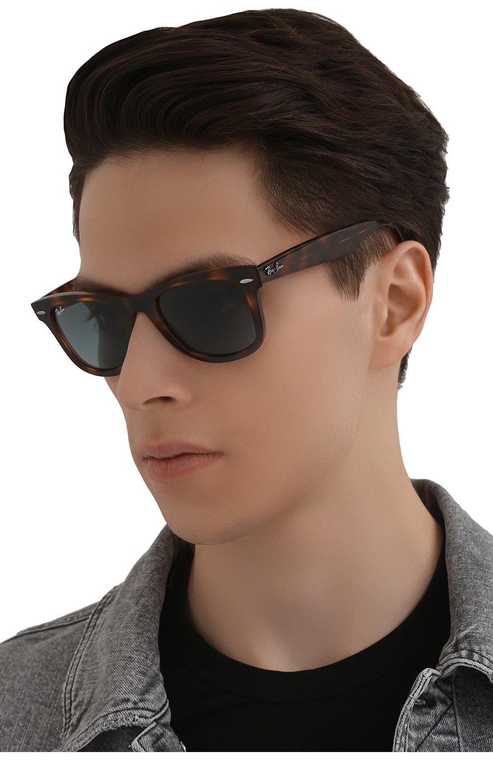 Женские солнцезащитные очки RAY-BAN коричневого цвета, арт. 4340-63973M   Фото 3