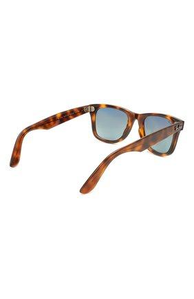 Женские солнцезащитные очки RAY-BAN коричневого цвета, арт. 4340-63973M   Фото 5