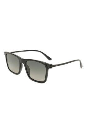 Мужские солнцезащитные очки PRADA черного цвета, арт. 19XS-07F09G | Фото 1