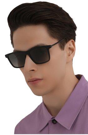 Мужские солнцезащитные очки PRADA черного цвета, арт. 19XS-07F09G | Фото 2