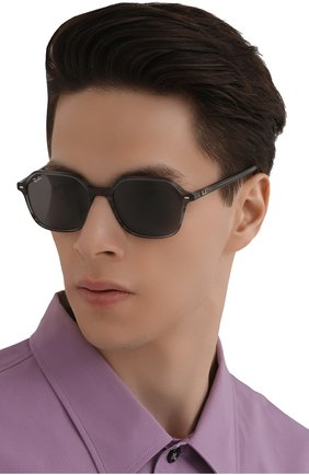 Женские солнцезащитные очки RAY-BAN серого цвета, арт. 2194-1314B1 | Фото 3