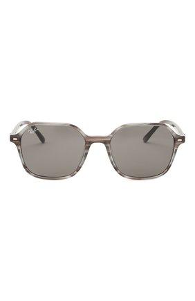 Женские солнцезащитные очки RAY-BAN серого цвета, арт. 2194-1314B1 | Фото 4