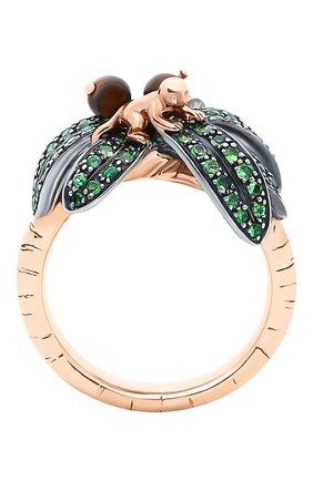 Женские кольцо BIBI VAN DER VELDEN бесцветного цвета, арт. R20170660   Фото 1 (Материал сплава: Серебро, Розовое золото; Драгоценные камни: Другие)