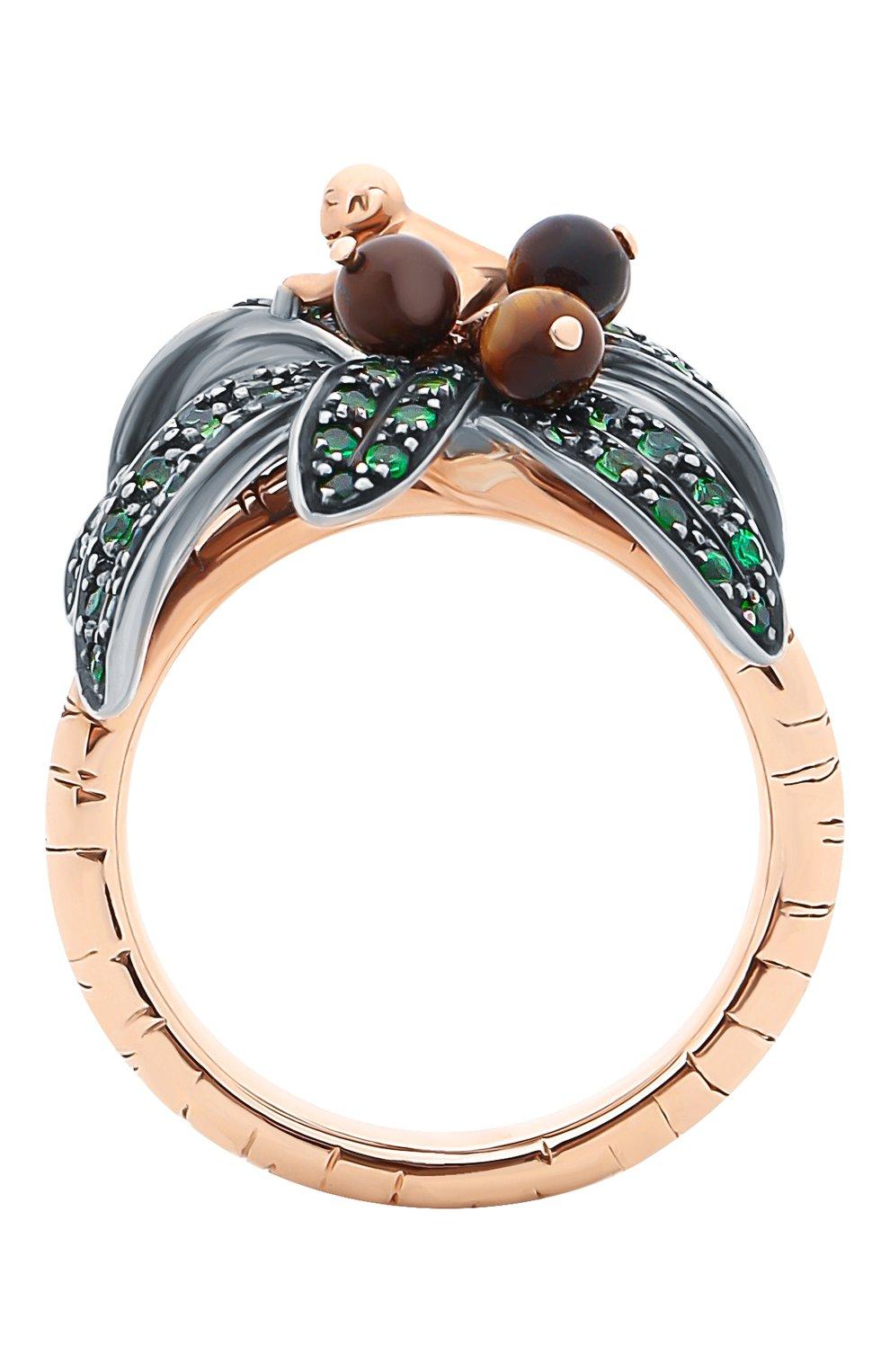Женские кольцо BIBI VAN DER VELDEN бесцветного цвета, арт. R20170660   Фото 2 (Материал сплава: Серебро, Розовое золото; Драгоценные камни: Другие)