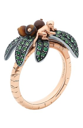 Женские кольцо BIBI VAN DER VELDEN бесцветного цвета, арт. R20170660   Фото 3 (Материал сплава: Серебро, Розовое золото; Драгоценные камни: Другие)