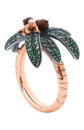Женские кольцо BIBI VAN DER VELDEN бесцветного цвета, арт. R20170660   Фото 4 (Материал сплава: Серебро, Розовое золото; Драгоценные камни: Другие)