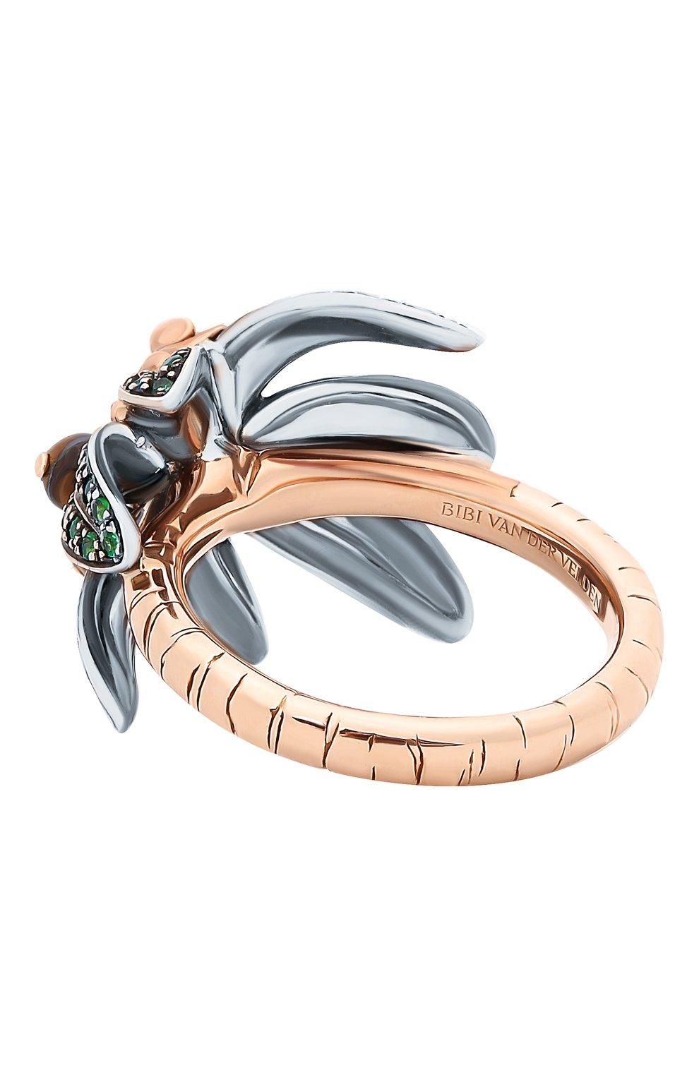 Женские кольцо BIBI VAN DER VELDEN бесцветного цвета, арт. R20170660   Фото 6 (Материал сплава: Серебро, Розовое золото; Драгоценные камни: Другие)
