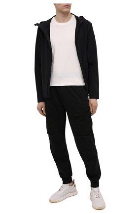 Мужские кожаные кроссовки SANTONI белого цвета, арт. MBIM21499BTTLDPAI50 | Фото 2 (Стили: Классический; Материал внутренний: Натуральная кожа; Подошва: Массивная)