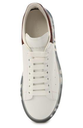 Мужские кожаные кеды ALEXANDER MCQUEEN белого цвета, арт. 645872/WHZ4P | Фото 5 (Материал внутренний: Натуральная кожа; Подошва: Массивная)