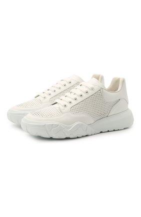 Мужские кожаные кроссовки ALEXANDER MCQUEEN белого цвета, арт. 645887/WHZ9A | Фото 1
