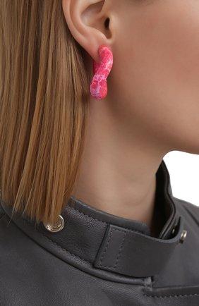 Женские серьги BALENCIAGA розового цвета, арт. 542508/TZ16M | Фото 2