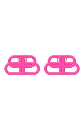 Женские серьги BALENCIAGA розового цвета, арт. 624199/TZ99M | Фото 1