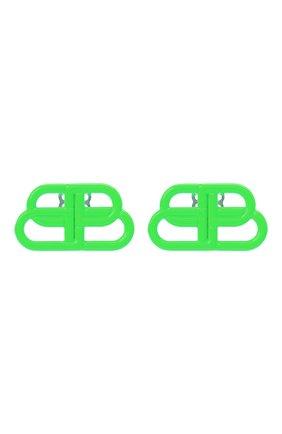 Женские серьги BALENCIAGA зеленого цвета, арт. 624199/TZ99V | Фото 1