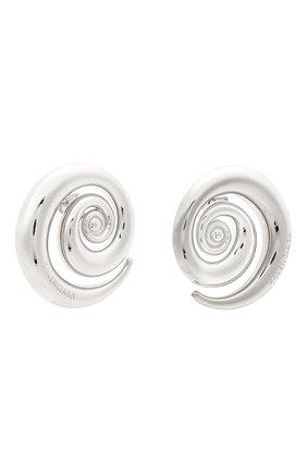 Женские серьги BALENCIAGA серебряного цвета, арт. 644290/TZ99S | Фото 3