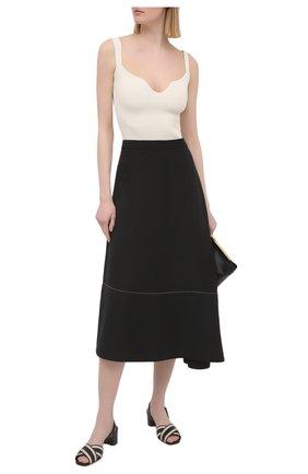 Женские кожаные босоножки SANTONI черного цвета, арт. WHIQ59346HA1T0I0N01   Фото 2