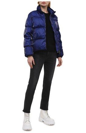Женская пуховая куртка grenit MONCLER темно-синего цвета, арт. G1-093-1A52S-60-54AQ4 | Фото 2