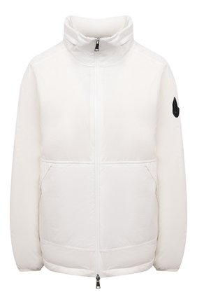 Женская пуховая куртка menchib MONCLER белого цвета, арт. G1-093-1A53L-10-53333 | Фото 1