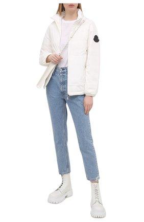 Женская пуховая куртка menchib MONCLER белого цвета, арт. G1-093-1A53L-10-53333 | Фото 2