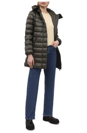 Женская пуховая куртка MONCLER хаки цвета, арт. G1-093-1B559-00-5396Q | Фото 2
