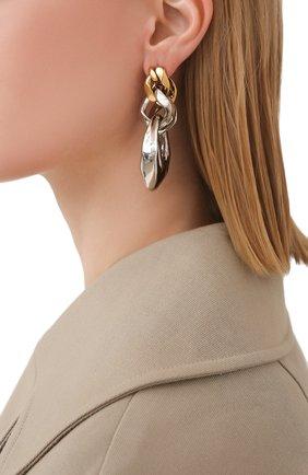 Женские серьги ALEXANDER MCQUEEN серебряного цвета, арт. 659629/J160Z | Фото 2