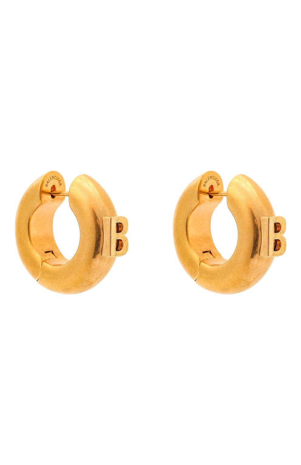 Женские серьги BALENCIAGA золотого цвета, арт. 618683/TZ99G | Фото 3