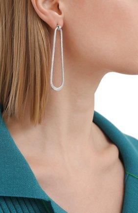 Женские серьги BRUNELLO CUCINELLI серебряного цвета, арт. M0RW9LA25 | Фото 2