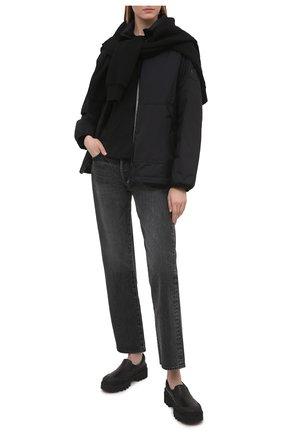 Женская пуховая куртка menchib MONCLER черного цвета, арт. G1-093-1A53L-10-53333   Фото 2