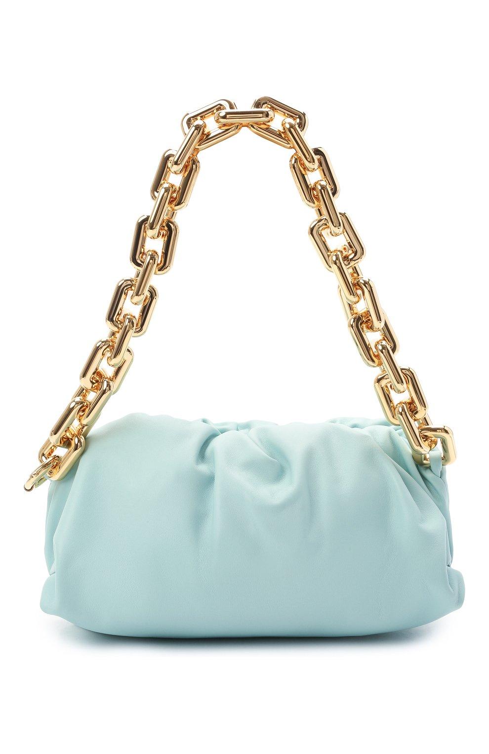 Женская сумка chain pouch BOTTEGA VENETA светло-голубого цвета, арт. 620230/VCP40 | Фото 1