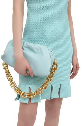 Женская сумка chain pouch BOTTEGA VENETA светло-голубого цвета, арт. 620230/VCP40 | Фото 2