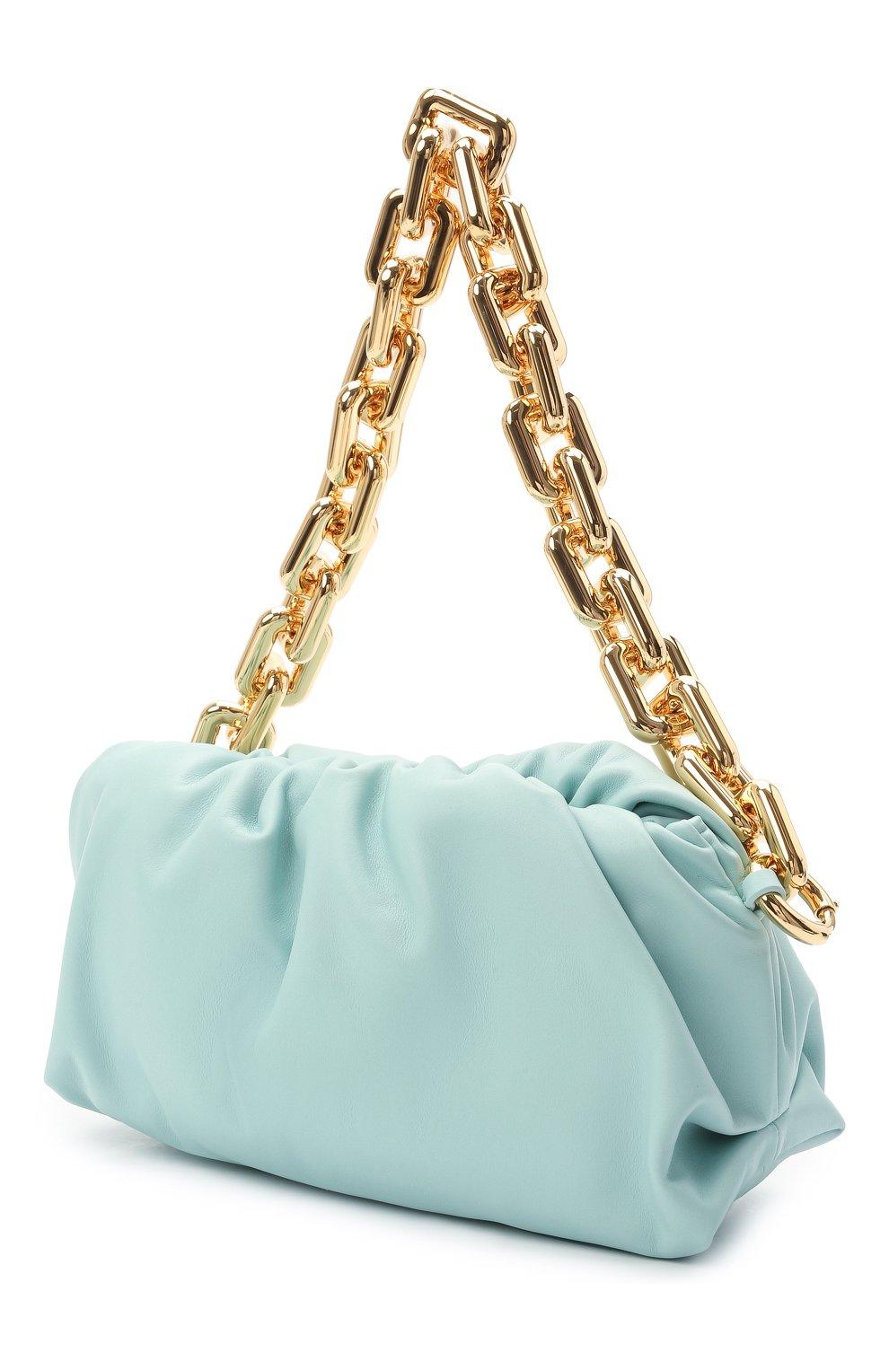 Женская сумка chain pouch BOTTEGA VENETA светло-голубого цвета, арт. 620230/VCP40 | Фото 3
