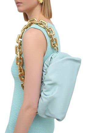 Женская сумка chain pouch BOTTEGA VENETA светло-голубого цвета, арт. 620230/VCP40 | Фото 5