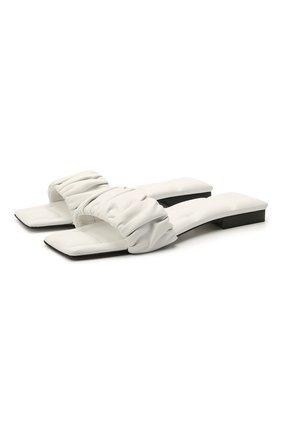 Женские кожаные шлепанцы crete KHAITE белого цвета, арт. F4025-723/CRETE | Фото 1