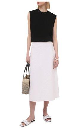 Женские кожаные шлепанцы crete KHAITE белого цвета, арт. F4025-723/CRETE | Фото 2