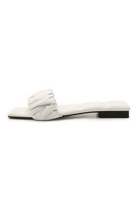 Женские кожаные шлепанцы crete KHAITE белого цвета, арт. F4025-723/CRETE   Фото 3