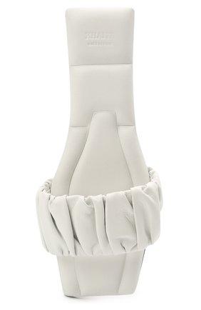 Женские кожаные шлепанцы crete KHAITE белого цвета, арт. F4025-723/CRETE   Фото 5