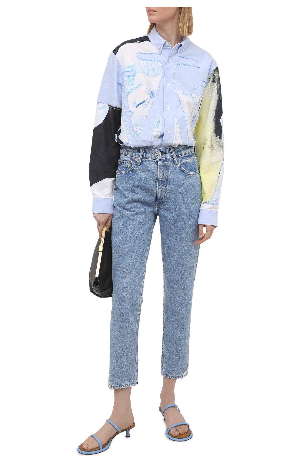 Женские кожаные мюли PROENZA SCHOULER голубого цвета, арт. PS36113A/13111   Фото 2