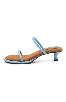 Женские кожаные мюли PROENZA SCHOULER голубого цвета, арт. PS36113A/13111   Фото 3