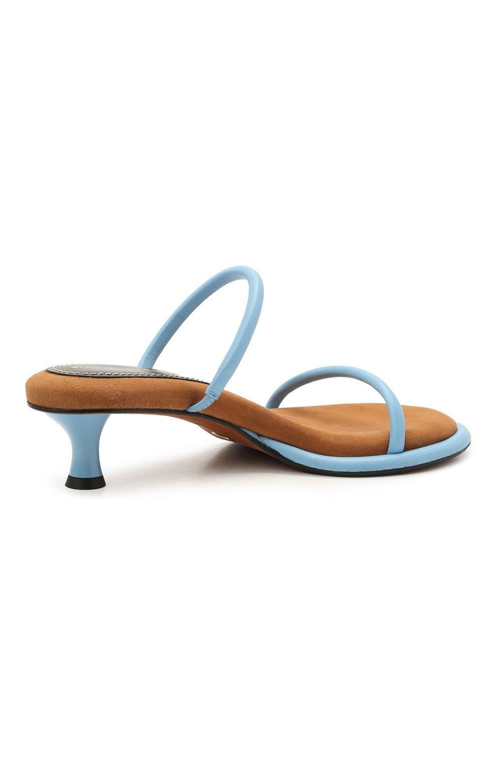 Женские кожаные мюли PROENZA SCHOULER голубого цвета, арт. PS36113A/13111   Фото 4